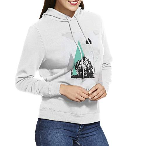 Kangtians CHUNT Hiking Interesting Women's Hooded Sweatshirt White M -