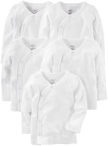 Simple Joys by Carter's Unisex Baby 5-Pack Side-Snap Long-Sleeve Shirt