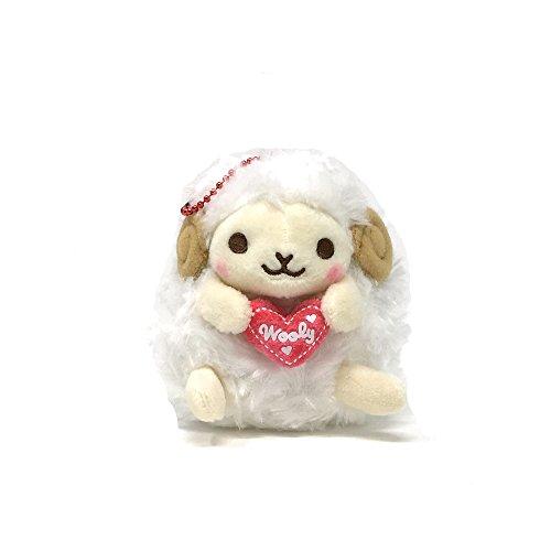 Amuse Plush keychain - Sheep Wooly - Heartful series - Yellow 3.94