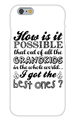 Best Grandkids iPhone 6 Case - Best Gift For Grandma & Grandpa! Unique Gifts For Grandparents! Father's & Mother's Day, Christmas, Birthday Special ()