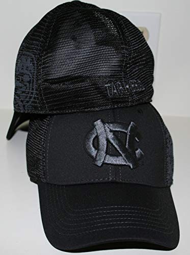 University of North Carolina UNC Tar Heels Black Night Fall Top One Fit Womens/Mens Baseball Hat/Cap Size Medium Large ()