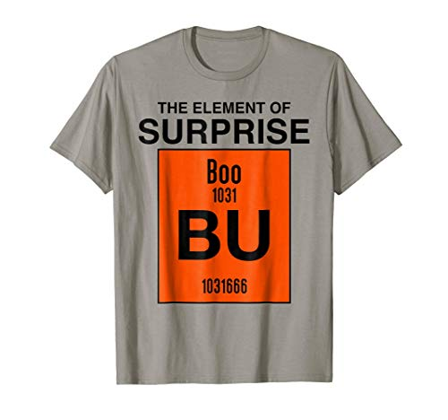 Boo Bu The Element Of Surprise Science Halloween Costume Tee ()