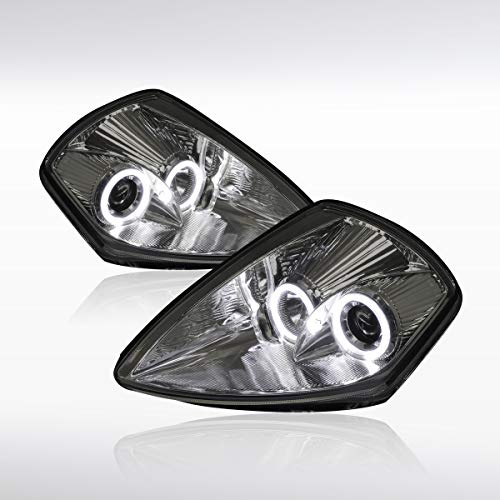 Autozensation For Mitsubishi Eclipse Smoke Dual LED Halo Projector Headlights Headlamps Pair ()
