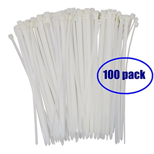 white nylon zip ties - 6