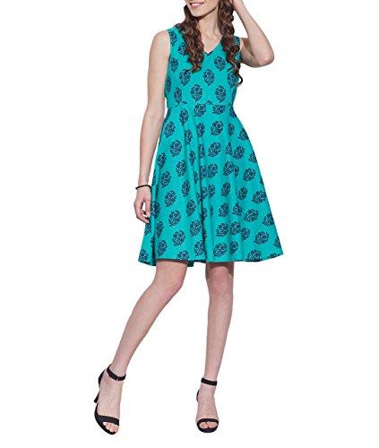 Vêtements Coton Imprimé Dress, lavable en machine, W-CPD46-1606, Taille-46 pouces