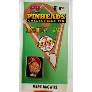 Mark McGwire - Pinheads Collectible Pin - Amber Cloisonne