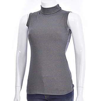 NEXGEN FEMME Gold High Neck T-Shirt For Women