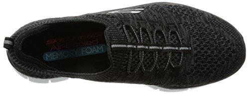 Skechers Sport Womens Empire Pointu Mode Sneaker Noir / Blanc