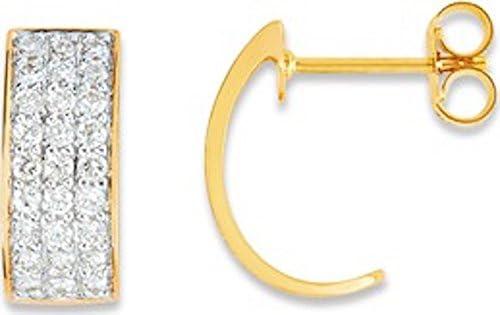 Ondine–Pendientes–Oro Bicolor 375/00y óxido–www.diamants.perles.com