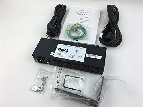 6T227 5T436 NEW Genuine OEM DELL PowerEdge Rack 5 Port 100-120V Rapid Power Distribution Unit PDU Mounting Kit ()
