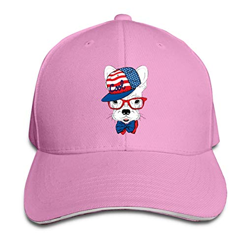 Shenigon Hat Dog Cap Unisex Low Profile Cotton Hat Baseball Caps Pink