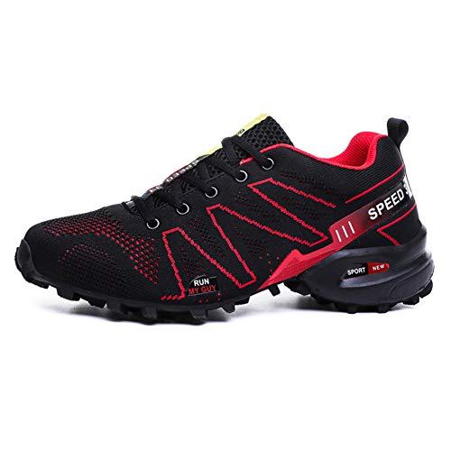 En Randonnée Plein Des Pour Bas Résistant Red haut Salle À De Hommes Air L'eau Chaussures Course Plastique L'usure YBw7F