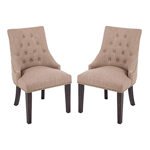 (DAGONHIL Fabric Dining/Accent Chairs (Set of 2),Nailed Trim)
