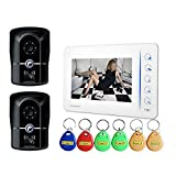 KRPENRIO Two door machine, one extension villa, swipe type 7 inch video doorbell
