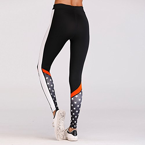 Eseres Women Active Leggings Sexy Fitness Pants Star Print Woman Slim Sporting Workout Wear