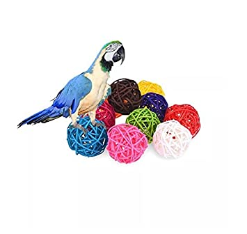 Stock Show 10pcs Pack 1 57 Rattan Balls Bird Chew Toy Diy Accessories Toy For Parrot Budgie Parakeet Cockatiel Conure Lovebird Finch Macaw African