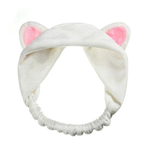 ink2055 Women Gils Cute Cat Ears Elastic Face Wash Headband Headdress