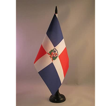 AZ FLAG Bandera de Mesa de la REPÚBLICA Dominicana 21x14cm - BANDERINA de DESPACHO Dominicana 14 x 21 cm: Amazon.es: Hogar