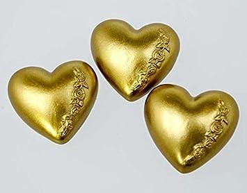 12 Stk Herzen Mit Ranken Gold Farben Tischdeko Dekoherzen Ornamente