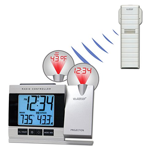 Atomic Projection Alarm with Indoor Temperature CROSSE TECHNOLOGY