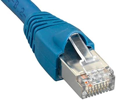 Cable Leader Cat6a 600 MHz Shielded Snagless Ethernet Network Patch Cable 75 Foot , Blue 1 Pack