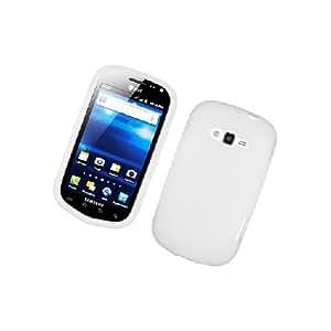 Samsung Galaxy Reverb M950 SPH-M950 White Soft Silicone Gel Skin Cover Case