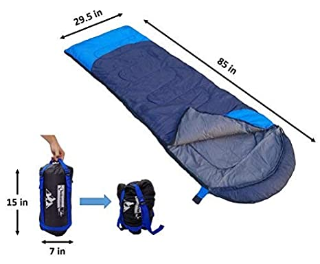85 x 29.5 Soft Sleeping Bag with Compression Sack Hiking Outdoorsman Lab Camping Accessories Ideal Outdoor Packable Sleep Gear Use Lightweight Sleeping Bags For Adults Backpacking with Tents