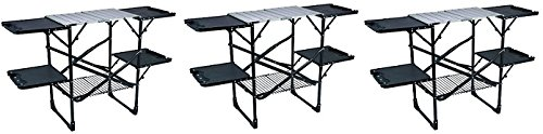 GCI Outdoor Slim-Fold Camp Kitchen Portable Folding Cook Station (3-(Pack)) by GCI Outdoor
