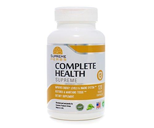 - Complete Health Supreme with 250mg L-Glutamine, 250mg GABA, 250mg L-Glycine 250mg, 250mg Mucuna pruriens 120 Capsules.