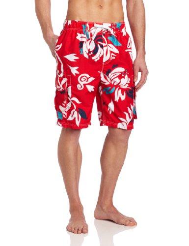 Waistband Elastic Polyester Drawstring (Kanu Surf Men's Barracuda Swim Trunk, Oahu Red, X-Large)