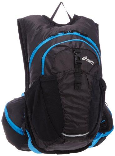 asics sports bag running back pack 6 EBM403 9045 (Black / Blue) by ASICS