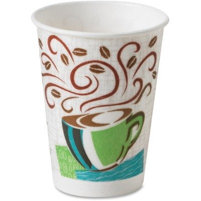 Hot Cups, Paper, 8oz, Coffee Dreams Design, 1000/Carton