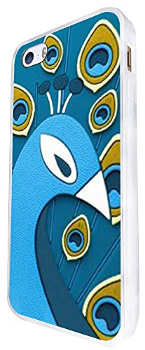 413 - Cool Peacock Face Feathers Design iphone SE - 2016 Coque Fashion Trend Case Coque Protection Cover plastique et métal - Blanc