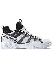 Salming Kobra 2 Mid White/Black Mens Indoor Court Shoes