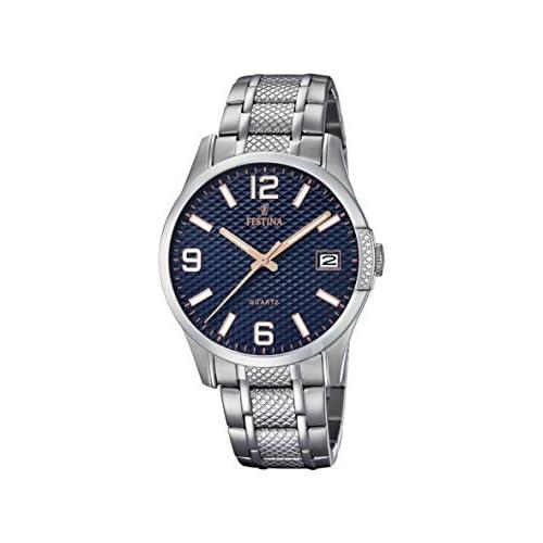 chollos oferta descuentos barato Festina Reloj Analógico para Hombre de Cuarzo con Correa en Acero Inoxidable F16981 4
