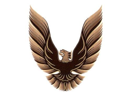 1978 1979 1980 Pontiac Firebird Trans Am Hood Bird ONLY GM Optional Decal Kit - Dark Gold