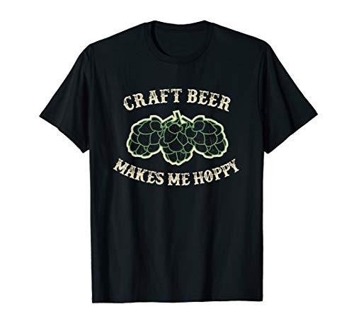 BEER SHIRT CRAFT BEER MAKES ME HOPPY OKTOBERFEST SHIRT (Make Craft Beer)