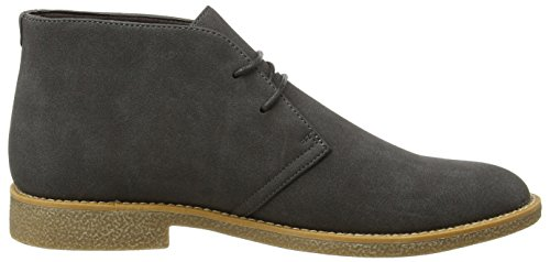 Dark Look Grey Men's Grey New Suedette Desert Boots YBwqW78d