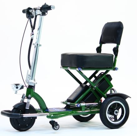 triaxe-sport-foldable-electric-mobility-scooter-cane-cup-holder-green