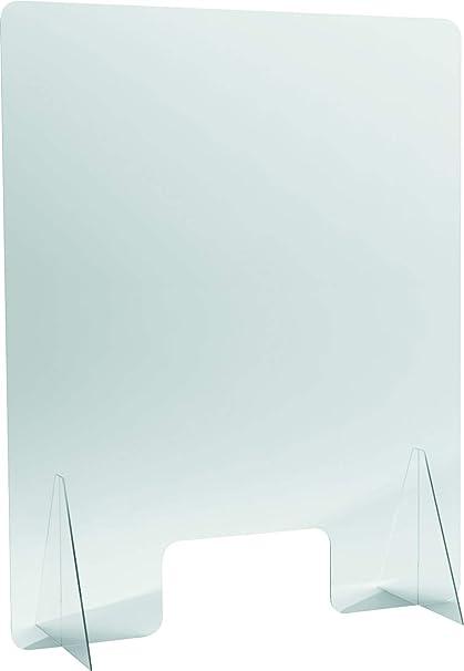 Helit H6816202 Mampara protectora de metacrilato acabado cristal de 800x1000 de 3mm de grosor, 3x 100 x 100 cm: Amazon.es: Oficina y papelería