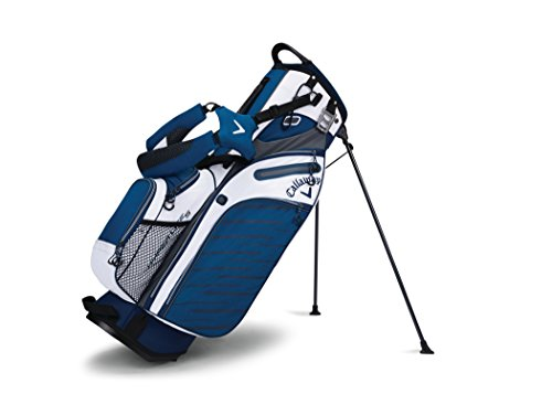 Callaway Golf Hyper Lite 5 Stand Bag Stand / Carry Golf Bag 2017 Hyper-Lite 5 White/Navy/Titanium (Carry Golf Bag With Stand)