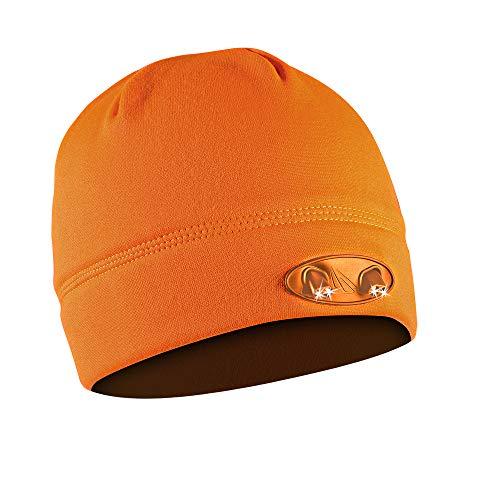 (POWERCAP LED Beanie Cap 35/55 Ultra-Bright Hands Free LED Lighted Battery Powered Headlamp Hat - Blaze Orange Fleece (CUBWB-4546))
