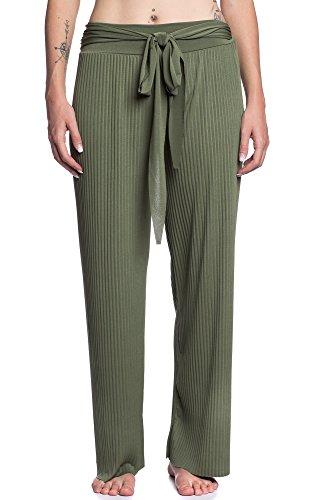 Abbino 8231 Pantalones Plisado - Hecho en ITALIA - 4 Colores - Entretiempo Primavera Verano Otoño Largos Deporte Casual Chico Fashion Elegantes Rebajas Clásico Atractivo Cordón Verde Caqui