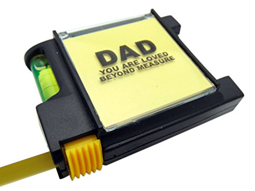Dad You Are Loved Beyond Measure Fathers Day Tape Measure With Level, 3 Inch Long