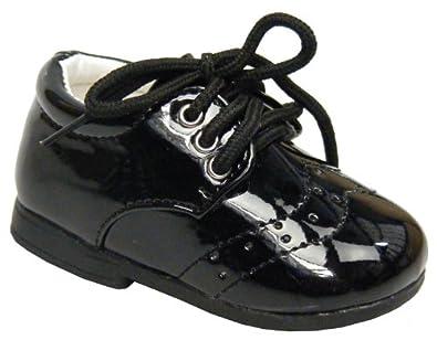 9cf9c0429dc New Baby Toddler Boy Black Laces Christening Shoe Wedding Shoes Size   UK 1  Infant
