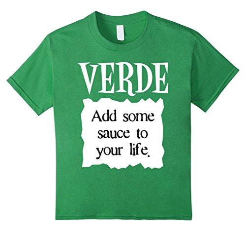 6 Group Halloween Costume Ideas (Kids Verde Hot Sauce Packet Funny Halloween Costume T-Shirt 6 Grass)
