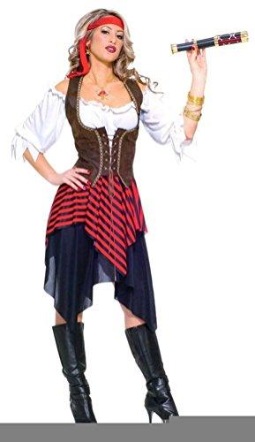Coslove Forum Novelties Women's Sweet Buccaneer Pirate Adult Costume - Sweet Buccaneer Adult Costumes