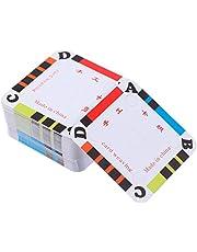 Healifty 100pcs Weaving Cards Tablet Paper Loom Cards for Loom or Inkle Loom Weaving Supplies