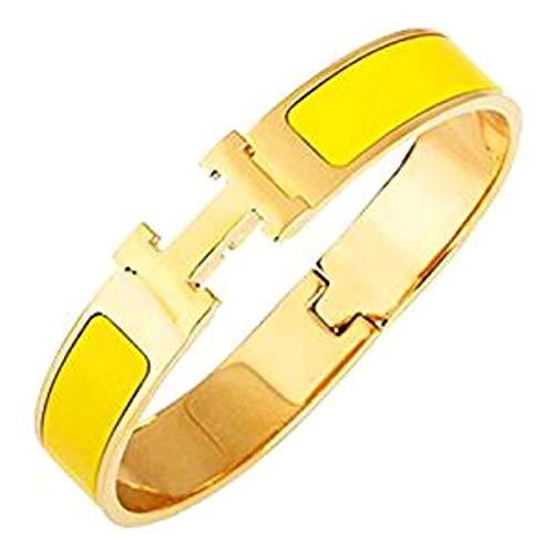 WEI JIANG Women's Fashion Stainless Steel Bracelet,12mm Enamel Bracelet – Jewelry Box Packaging