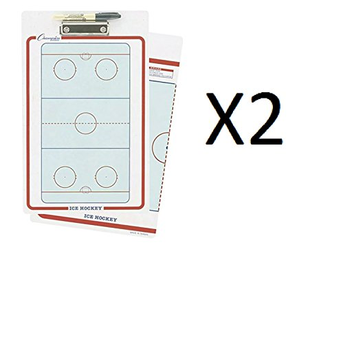 (Champion Dry Erase 2 Sided Ice Hockey Coaching Board With Marker CBIH (2-Pack))